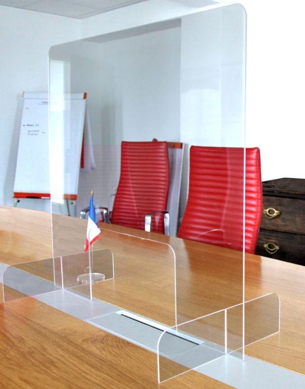 réunion protection plexiglass plexi transparente plastique covid corona
