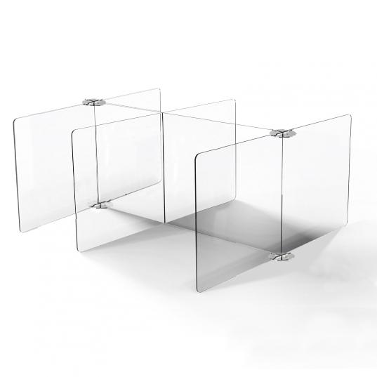 Cantine réfectoire restauration plexi protection individuelle plexiglass plexi transparente plastique covid corona