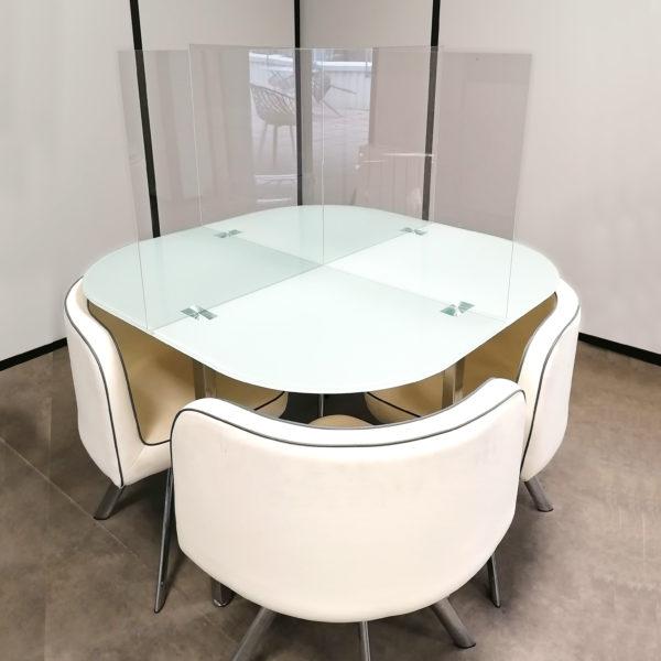 restaurant réfectoire protection plexiglass plexi transparente plastique covid corona
