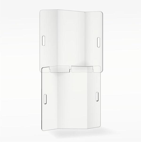 paravent écran protection debout plexiglass plexi transparente plastique covid corona