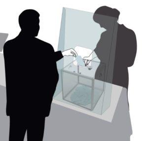 Protection Urne plexiglas transparent