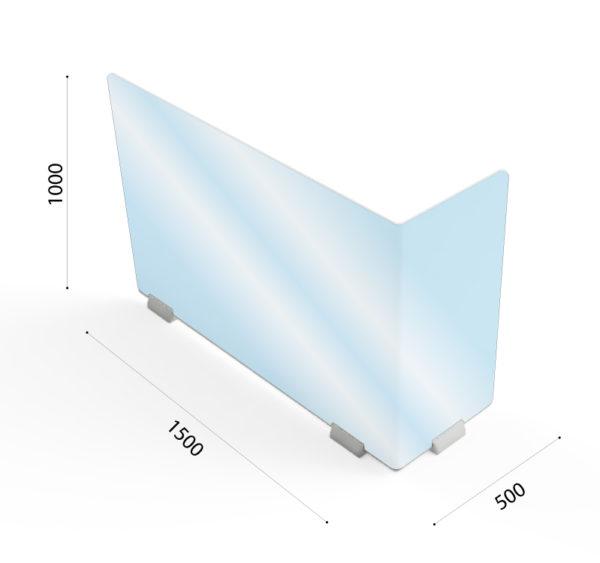 Dimension Protection Plexiglas Bureau