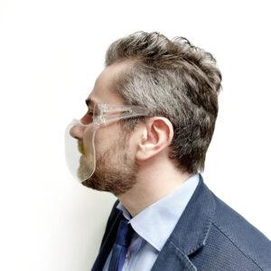 masque lavable et transparent